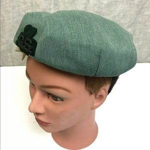 Vintage Girl Scout Leaders Hat Small Green